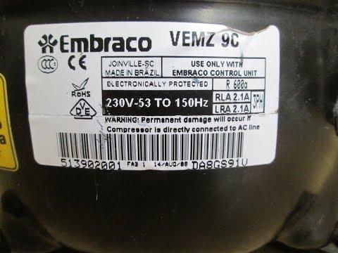 Инверторный компрессор Embraco